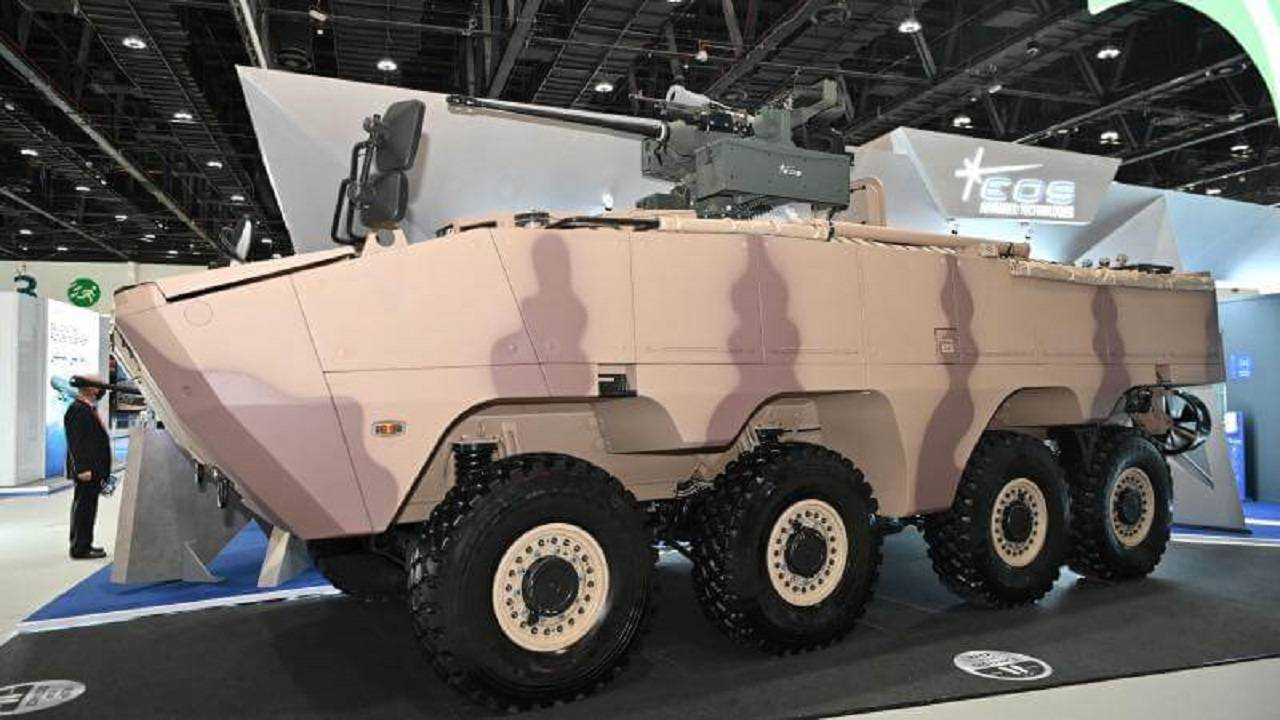 The amphibious armored vehicle was exhibited at the IDEX exhibition in February 2021. Image provided by AL JASOOR.